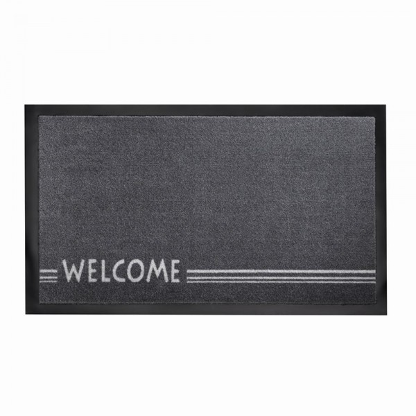 "Fußmatte ""Peva Welcome"" grau 45x75 cm"